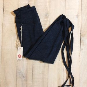 Yoga crop leggings with tie ups NWTA XS